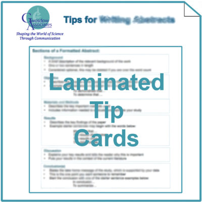 Laminated Tip Cards