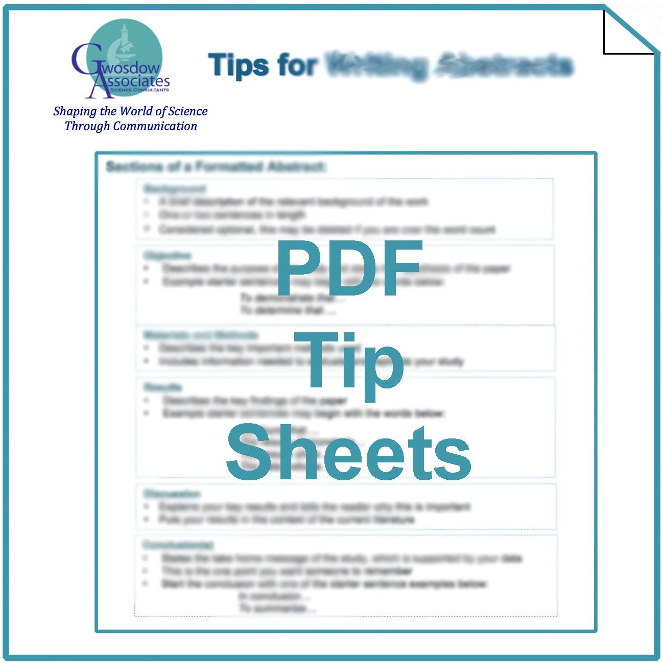 PDF Tip Sheets